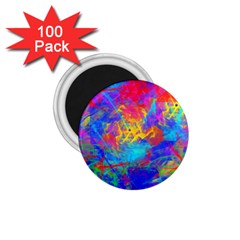 Colour Chaos  1 75  Button Magnet (100 Pack) by icarusismartdesigns