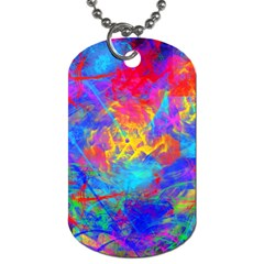 Colour Chaos  Dog Tag (one Sided) by icarusismartdesigns