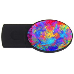 Colour Chaos  2gb Usb Flash Drive (oval) by icarusismartdesigns