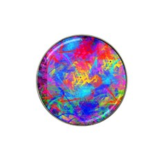 Colour Chaos  Golf Ball Marker (for Hat Clip) by icarusismartdesigns