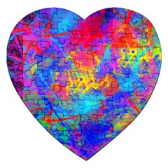 Colour Chaos  Jigsaw Puzzle (heart) by icarusismartdesigns