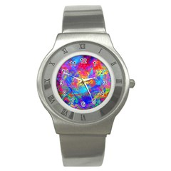 Colour Chaos  Stainless Steel Watch (slim) by icarusismartdesigns
