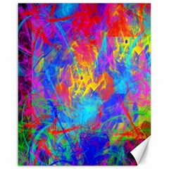 Colour Chaos  Canvas 16  X 20  (unframed) by icarusismartdesigns