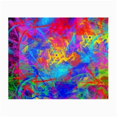 Colour Chaos  Glasses Cloth (small, Two Sided) by icarusismartdesigns