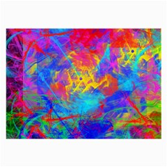 Colour Chaos  Glasses Cloth (large, Two Sided) by icarusismartdesigns