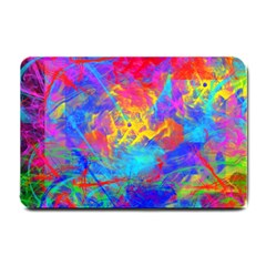 Colour Chaos  Small Door Mat by icarusismartdesigns