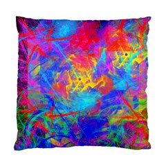Colour Chaos  Cushion Case (two Sided)  by icarusismartdesigns