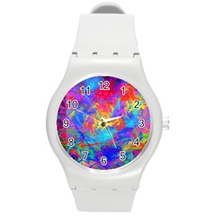 Colour Chaos  Plastic Sport Watch (medium) by icarusismartdesigns