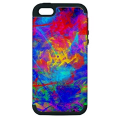 Colour Chaos  Apple Iphone 5 Hardshell Case (pc+silicone) by icarusismartdesigns