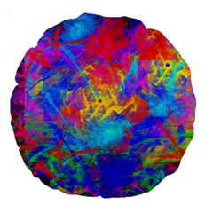 Colour Chaos  18  Premium Round Cushion  by icarusismartdesigns
