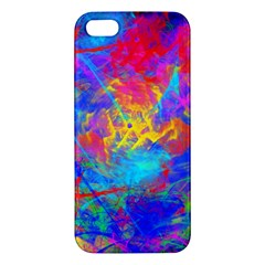 Colour Chaos  Apple Iphone 5 Premium Hardshell Case by icarusismartdesigns