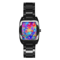 Colour Chaos  Stainless Steel Barrel Watch by icarusismartdesigns