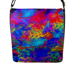 Colour Chaos  Flap Closure Messenger Bag (large) by icarusismartdesigns