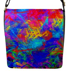 Colour Chaos  Flap Closure Messenger Bag (small) by icarusismartdesigns