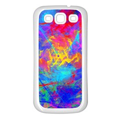 Colour Chaos  Samsung Galaxy S3 Back Case (white) by icarusismartdesigns