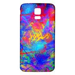 Colour Chaos  Samsung Galaxy S5 Back Case (white) by icarusismartdesigns