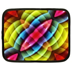 Multicolored Abstract Pattern Print Netbook Sleeve (xl) by dflcprints