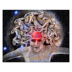 Medusa Jigsaw Puzzle (rectangle) by icarusismartdesigns