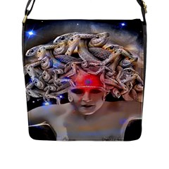 Medusa Flap Closure Messenger Bag (large) by icarusismartdesigns
