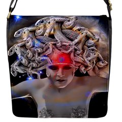 Medusa Flap Closure Messenger Bag (small) by icarusismartdesigns
