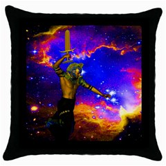 Star Fighter Black Throw Pillow Case by icarusismartdesigns