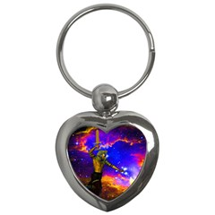 Star Fighter Key Chain (heart) by icarusismartdesigns