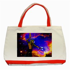 Star Fighter Classic Tote Bag (red) by icarusismartdesigns