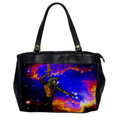 Star Fighter Oversize Office Handbag (one Side) by icarusismartdesigns