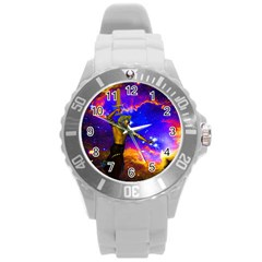 Star Fighter Plastic Sport Watch (large) by icarusismartdesigns