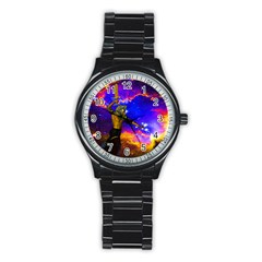 Star Fighter Sport Metal Watch (black) by icarusismartdesigns
