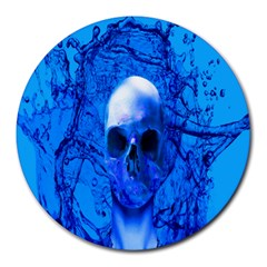 Alien Blue 8  Mouse Pad (round)