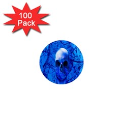 Alien Blue 1  Mini Button Magnet (100 Pack) by icarusismartdesigns