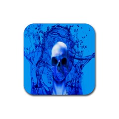 Alien Blue Drink Coaster (square) by icarusismartdesigns