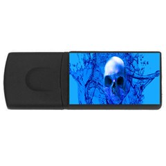 Alien Blue 4gb Usb Flash Drive (rectangle) by icarusismartdesigns