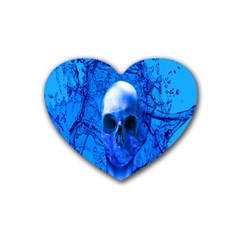 Alien Blue Drink Coasters (heart) by icarusismartdesigns