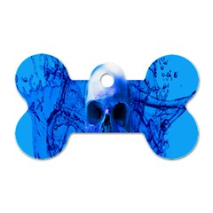 Alien Blue Dog Tag Bone (two Sided) by icarusismartdesigns