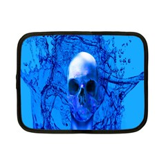 Alien Blue Netbook Sleeve (small) by icarusismartdesigns