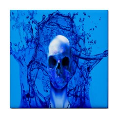 Alien Blue Face Towel by icarusismartdesigns