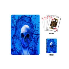 Alien Blue Playing Cards (mini) by icarusismartdesigns