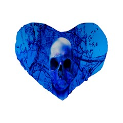 Alien Blue 16  Premium Heart Shape Cushion  by icarusismartdesigns