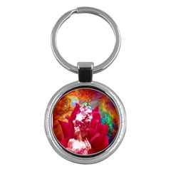 Star Flower Key Chain (round) by icarusismartdesigns
