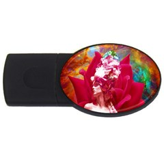 Star Flower 2gb Usb Flash Drive (oval) by icarusismartdesigns