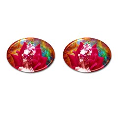 Star Flower Cufflinks (oval)