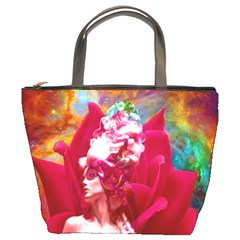 Star Flower Bucket Handbag by icarusismartdesigns