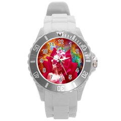 Star Flower Plastic Sport Watch (large) by icarusismartdesigns