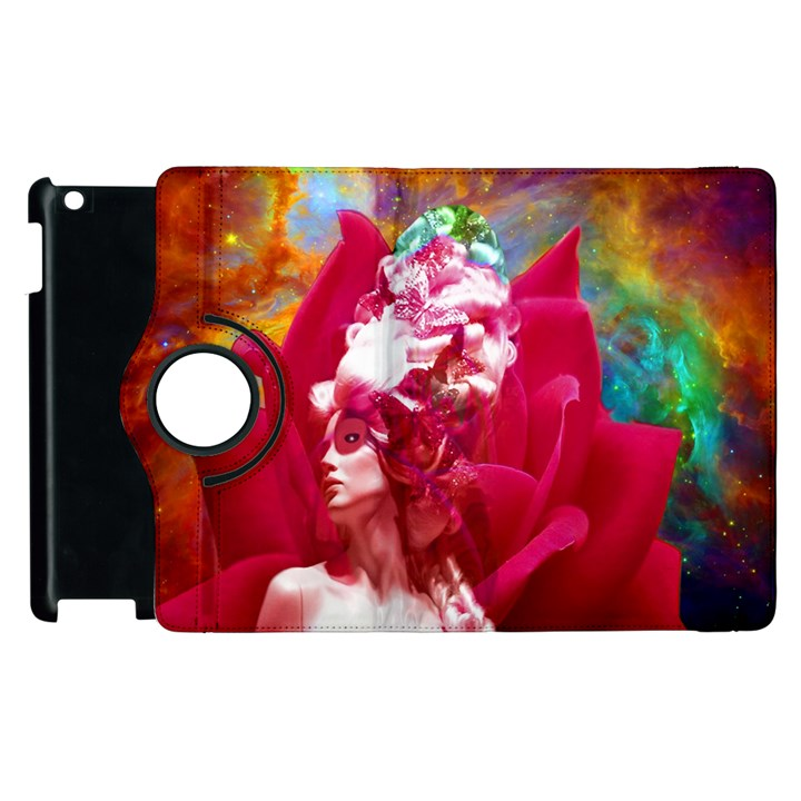 Star Flower Apple iPad 2 Flip 360 Case