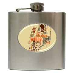 Michael Jackson Typography They Dont Care About Us Hip Flask by FlorianRodarte