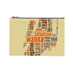 Michael Jackson Typography They Dont Care About Us Cosmetic Bag (large) by FlorianRodarte