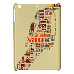 Michael Jackson Typography They Dont Care About Us Apple Ipad Mini Hardshell Case by FlorianRodarte