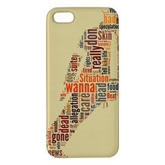 Michael Jackson Typography They Dont Care About Us Apple Iphone 5 Premium Hardshell Case by FlorianRodarte